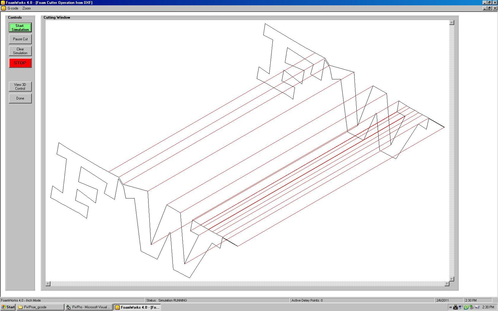 FoamWorks 4.0 cut simulation